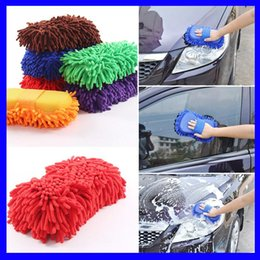 Chenille Towels Wholesale Australia - Car Auto Detailing Towel Chenille Car Wash Gloves Brushes Microfiber Motorcycle Washer Car Care Cleaning Brushes