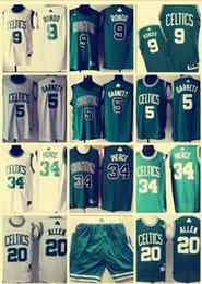 Discount camp pants - Celtics Big Three Boston 34 Paul Pierce 5 Kevin Garnett 20 Ray Allen 9 Rajon Rondo 33 Bird Embroidered Logo Jerseys Pant