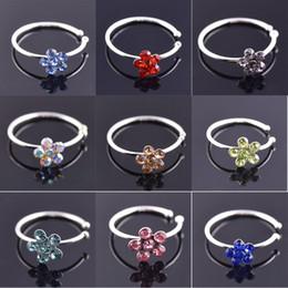 Medical Nose Australia - 25Pcs Fashion Medical Steel Crystal Rhinestone Nose Ring Hoop Circular Piercing Nose Rings Tragus Ear Piercing Jewelry