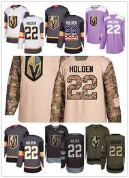 Men S Winter Gear Australia - Vegas Golden Knights jerseys #22 Nick Holden jersey ice hockey men women gray white black Authentic winter classic Stiched gears Jersey