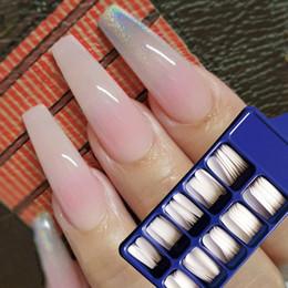 $enCountryForm.capitalKeyWord Australia - 100-piece full-post ballet fake nail patch phototherapy nail art tool jewelry artificial fake art skills