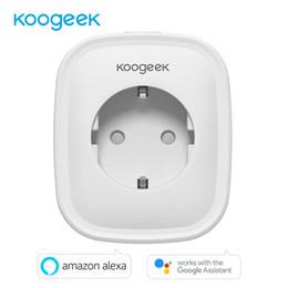 Eu Smart Plug Australia - Koogeek WIFI Smart Socket EU Plug AC220V Remote Control Smart Timing Switch Energy Monitoring For Amazon Alexa Google Assistant