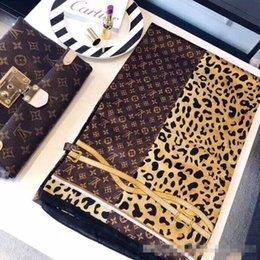 $enCountryForm.capitalKeyWord Australia - hot sale Silk scarf for Women Leopard Chain Printed Long Scarves size 180x90Cm Shawls For Women gift