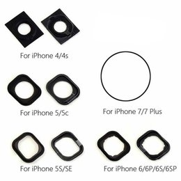 Iphone 4s Sticker Buttons UK - Einpassung For iPhone 4 4S 5 5S 5C SE Home Button Rubber Gasket Adhesive For iPhone 6 6p 6s 6sp 7 7p Home Button Sticker Holder