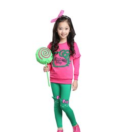 Old Fashioned Suits Australia - Girls Clothes Suit Fashion Kt Cat Cartoon Embroidery Thick Warm Autumn And Winter Baby Clothing Girl 3-11year Old Children Wear Y190522