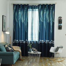 Red pRinted cuRtains online shopping - Nordic style unique digital printing phoenix leaves for living room bedroom curtains tulle curtains can be customized