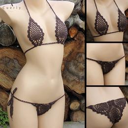 Mini Micro set online shopping - Crochet Lingerie Micro Bikini Set Sexy Black Set Mini Bikini Micro Swimwear More Colors Hot Sale