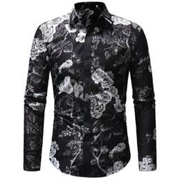 251b0370 New Fashion Mens Casual Shirts Australia - 2019 New Fashion Spring Mens  Long Sleeve Beach Hawaiian