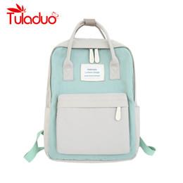 $enCountryForm.capitalKeyWord NZ - Women Canvas Backpacks Candy Color Waterproof School Bags for Teenagers Girls Big Laptop Backpack Patchwork Kanken Backpack New