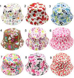 $enCountryForm.capitalKeyWord Australia - 30 Colors Children Bucket Hat Casual Flower Sun Printed Basin Canvas Topee Kids Hats Baby Beanie Caps YD0156
