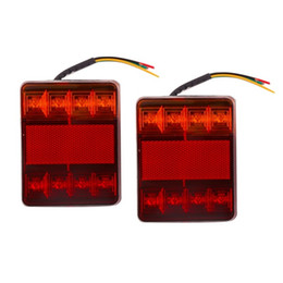 $enCountryForm.capitalKeyWord NZ - hot 2pcs ABS Plastic Waterproof Trailer Truck 8LED Taillight Brake Stop Turn Signal Indicator Light Lamp 12V Hot Drop Shipping
