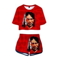 5bd76ee224596 New Women Two Piece Set Top and Pants RED DEAD REDEMPTION 2 3D Print Casual Tracksuit  Women Summer Set Outfits New Sweat Suits