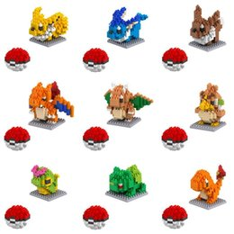 anime puzzles Australia - 2pcs Small particles blocks 20 Models Figures Diamond Elf Ball Building Blocks Toys Christmas Gifts Anime Puzzle crea tive po kemon elves