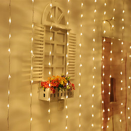 $enCountryForm.capitalKeyWord Australia - 336LED Bulbs Water Flow Snowing Effect Curtain Led Waterfall String Lights 3M*3M Christmas Xmas Wedding Party Background Garden 110V 220V