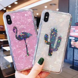Iphone Back Hot Pink Australia - Laser Shell Pineapple Cactus Soft Phone Case For Iphone X 6 6s 7 8 Plus Fashion Cute Cartoon Back Cover Hot