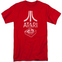 $enCountryForm.capitalKeyWord Australia - Atari Tall T-Shirt Joystick Controller Logo Red Tee Men Women Unisex Fashion tshirt Free Shipping