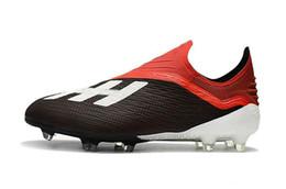 $enCountryForm.capitalKeyWord Australia - Messi 100% Original Football Boots Laceless X 18 FG Men Soccer Shoes Wholesale Pogba Plating soles Soccer Cleats n023