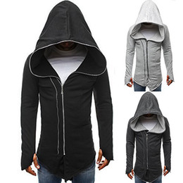 $enCountryForm.capitalKeyWord Australia - Sexy2019 European Code And Pattern Dark Cloak Clothes Assassin Creed Zipper Long Sleeve Even Midnight W30