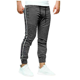 Wholesale work pants for sale - Group buy Men Casual Joggers Splicing Printed Overalls Casual Pocket Sport Work Trouser Pants Streetwear Pantalones Hombre