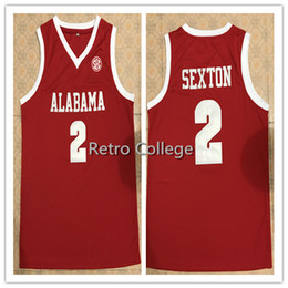 450389268 2 Collin Sexton Alabama Crimson Tide Jerseys Red White Stitched Any Name  Number College Basketball Jerseys XS-6XL vest Jerseys NCAA