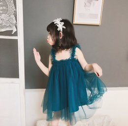 $enCountryForm.capitalKeyWord Australia - New Girl's Lolita Style Pleated Dress Summer Kid's Bud Skirt with Korean design Pengpeng woman's Princess Skirt one-piece suspender Lace2019