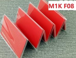 $enCountryForm.capitalKeyWord Australia - On Sale! 400pcs lot RED IC Smart Card Compatible s50( fudan f08) IC Card 13.56mhz Blank Or With IC number RFID Card For Access Control