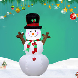 inflatable christmas ornament NZ - Christmas Inflatable Snowman LED Lights LED Home Party Playground Art Festival Decoration Garden Christmas Toys US EU Plug