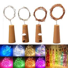 2M 20LED botellas de vino luces de corcho de pilas accionado estrellado luces de cadena de Navidad de bricolaje para el partido de Halloween boda Decoracion en venta