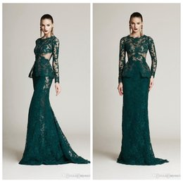 $enCountryForm.capitalKeyWord Australia - 2019 Modest Lace Appliques Formal Evening Dresses Sweep Train Long Prom Party Gowns Custom Vestidos De Special Occasion Party Gowns