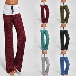 $enCountryForm.capitalKeyWord Canada - Women Wide Leg Pants Colorant Match Casual Yoga Pants Fitness Women Clothes Female Sports Running Maternity Pants TC181129W 50pcs