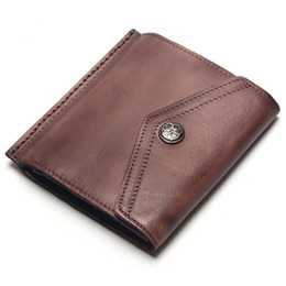 $enCountryForm.capitalKeyWord NZ - Brown fashion style men purse wallet top quality leather soft bifold credit card holders wallets for men