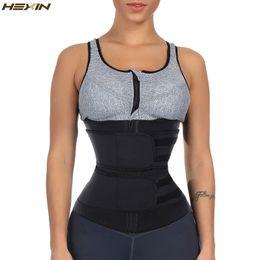 Hexin Cinto Duplo Trainer Cintura Shapers Do Corpo De Fitness Látex Trainer Cintura Zipper Shapewear Cinto De Emagrecimento Fajas Colombianas T10190615 em Promoção