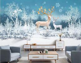 $enCountryForm.capitalKeyWord Australia - Custom 3D Stereo Modern minimalist small fresh dreams Fulu forest Photo Wallpaper Background Wallpaper Mural Painting Dining Room TV Mural