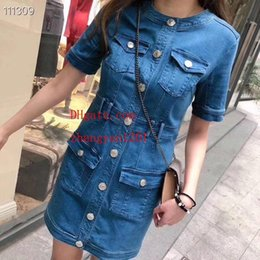 denim jumpsuits sale NZ - dress Hot sale 2019 brand summer dresses Slim Denim skirt women clothes high quality Casual summer dresses women jumpsuits women dresses 96