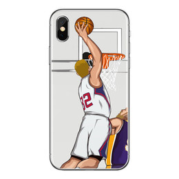 Paintings For Australia - Wholesale Fashion Basketball All-Star Painted Phone Case for IphoneX 8Plus 7Plus 6sPlus 8 7 6 5 5s se Perfect Dunk Show Phone Case 10 Styles