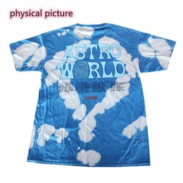 Wholesale mens hooded t shirts for sale – custom Travis Scott Tshirt Anstronaut Astroworld Tour Tie Dyeing T Shirt Men Streetwear Camouflage Mens Women s Travis Scott T shirt
