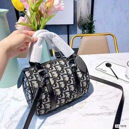 $enCountryForm.capitalKeyWord Australia - New Boston Bag Embroidery Letter Pillow Bag, Single Shoulder Slant Hand-held Canvas Drum Bag free shopping