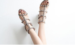Genuine Leather Sexy Australia - 2019Top quality brand Smooth Nubuck Genuine Leather sexy Nightclub Cool Hollow high heel rivet Pointed lace party banquet sandals