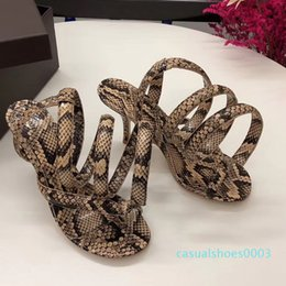 spell shoe UK - Shoes High-heeled Will Code Spelling Color Snake Belt Bare Toes With Woman Sandals c03