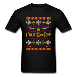 $enCountryForm.capitalKeyWord Australia - Xmas Gift T Shirt Im A Seeker T Shirt Couple Match Tshirt Men Summer Tops Tees Cotton Wholesale Discount Christmas Sweater Pattern Letter