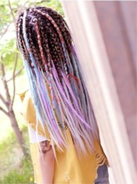 Clip Hair Braid Extension Australia - New Sexy Clip Hair Extensions Multicolor Highlighting Colours Synthetic Hair   Gradient Color Kanekalon Synthetic Hair Crochet Braids