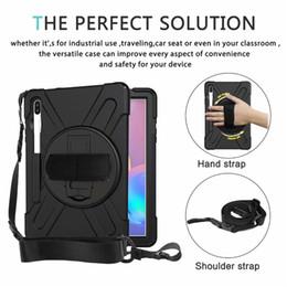 Nexus tab case online shopping - for Samsung T860 T865 T867 T390 T395 Hybrid Shockproof Armor Holder with Shoulder strap