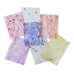 $enCountryForm.capitalKeyWord Australia - 6 Colors Can Choose Gold Mesh Nail Stickers Glitter Line Silk Foil Transfer Accessories Hot Sale Nail Art Decal