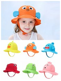 $enCountryForm.capitalKeyWord Australia - kids Summer Hat Baby Girl Sun Hat Summer Lovely Fashion Beach Cap Toddlers Infants Beach Cap round hat