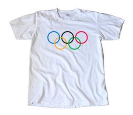 Ski Rings Australia - Vintage Classic Olympic Rings Logo T-Shirt - Run, Swim, Cycling, Track, Ski Funny free shipping Unisex Tshirt top