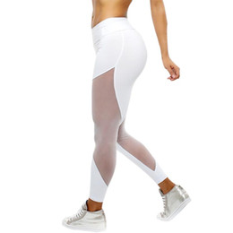 43ccdf366d3c2 Women net leggings online shopping - Tight Women Stretched Sports Pants Gym  Clothes Hollow Out Net