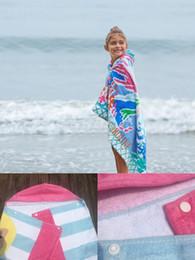 Kids Wrap Towel NZ - 30*50-INCH Cartoon Pattern Hooded Towel For Boy Girl Pure Cotton Absorbent Bath Towel Home Beach Pool Kid Towel Wrap 18 Styles