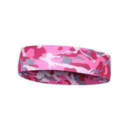 $enCountryForm.capitalKeyWord UK - Pink Camo Floral Sport Sweatband Headband Head Sweat Band Yoga Running Tennis Headscarf Silicone Anti-slip HairBand #40260