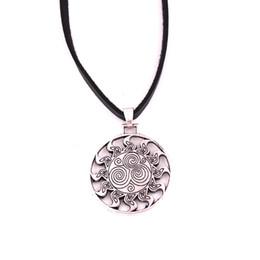 $enCountryForm.capitalKeyWord Australia - HY156 Mens necklace Nordic Style amulet spirals viking vintage pendant leather chain charm necklace for unisex