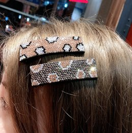 Pinching hair online shopping - hairpin bobby pin Fund Temperament Leopard Rhinestone Practical Edge Fringe Pinch Clamp Clip Japan South Korea Hair Decorate